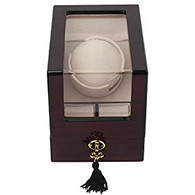Kendal Top Quality Single Wooden Watch Winder plus 2 Storage with Advanced Control & Reliable Japan Motor W1+2cbk