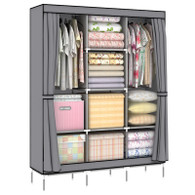 51X17X68 inch Non Woven Folding Practical Portable Clothes Storage Rack Closet Wardrobe PW170B