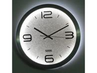 "KENDAL 12"" Modern Stylish Elegant Silent Home Kitchen/Living Room Lighted Wall Clock WC3012"