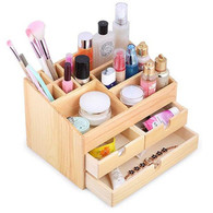 Kendal Wooden Desktop makeup cosmetic Organizer Display Box case with Storage Drawers WSB01PC