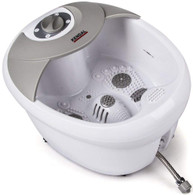 All in one foot spa bath massager w/ heat, HF vibration, infrared, O2 bubbles MS0809M