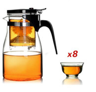 Kendal 32 oz Tea Maker Teapot with 8 tea cups cj-900