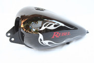 Honda Rebel CMX250 Gas Tank Set: Black Gas Tank