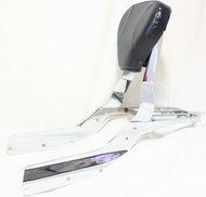 Chrome Passenger Sissy Bar Set: Sissy Bar Rack, Side Brackets, Luggage Rack, Black Backrest Pad