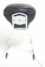 Harley HD Detachable Passenger Sissy Bar Backrest Upright with Pad Softail Screamin Eagle Fat Boy FLSTFSE2 2007 - Later