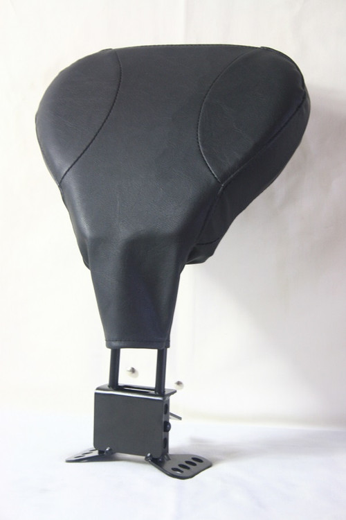 Touring Rider (Driver) Backrest Kit: Rider Backrest Pad, Mounting Bracket, Mounting Hardware