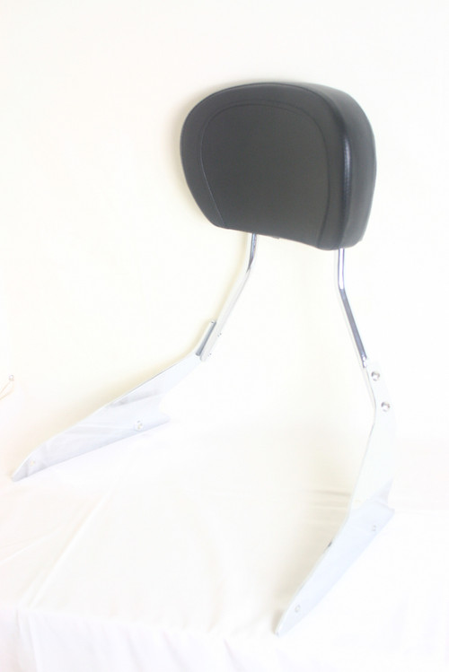 M109R Chrome Sissy Bar, Black Backrest Pad