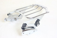 Luggage Rack and Docking Point Hardware Kit Combo: Detachable Chrome Air Wing Luggage Rack, Chrome 4-Point Docking Hardware kit
