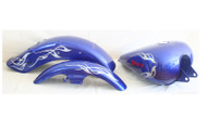 Blue Gas tank and fender set for Honda Rebel CMX250 motorcycles