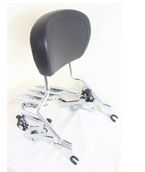 High Quality detachable Stealth Luggage Rack, detachable Passenger Sissy Bar Rack, four point docking hardware  2014 2015 2016 2017 2018 2019