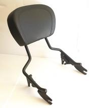 Matte Black Touring Sissy Bar Rack with Backrest Pad