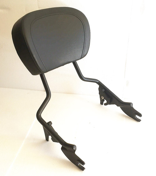 Matte Black Touring Sissy Bar Rack with Backrest Pad