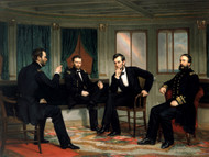 The Peacemakers 1868 Sherman, Grant, Lincoln, and Porter aboard the River Queen March 1865 by George P.A. Healy