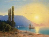 Sunset over Yalta 1861 by Ivan Aivazovsky