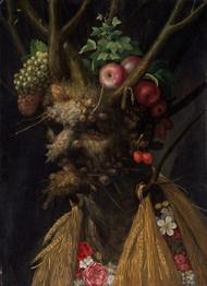 Four Seasons in One Head 1590  by Giuseppe Arcimboldo