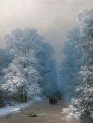 Winter Landscape 1876 by Ivan Aivazovsky