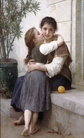 A Little Coaxing Calinerie by William Adolph Bouguereau