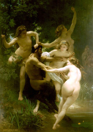 Nymphes et Satyre Nymphs and Satyr by William Adolph Bouguereau