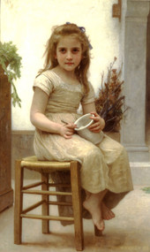 The Snack 1895 by William Adolph Bouguereau
