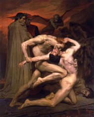 Dante and Virgil in Hell by William Adolph Bouguereau