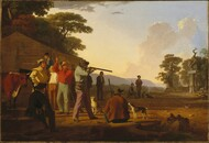 Shooting for the Beef 1850 by George Caleb Bingham Framed Print on Canvas