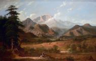 View of Pike's Peak 1872 by George Caleb Bingham Framed Print on Canvas