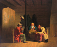 Country Politician 1849 by George Caleb Bingham Framed Print on Canvas