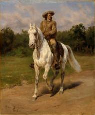 Col. William F. Cody (Buffalo Bill) 1889 by Rosa Bonheur Framed Print on Canvas