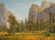 Bridal Veil Falls, Yosemite Valley, California by Albert Bierstadt Framed Print on Canvas