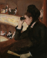 In the Loge 1878 by Mary Cassatt Framed Print on Canvas