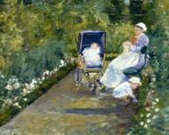 Children in a Garden (The Nurse) by Mary Cassatt Framed Print on Canvas