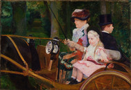A Woman and a Girl Driving 1881 by Mary Cassatt Framed Print on Canvas