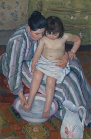 The Child's Bath 1893 by Mary Cassatt Framed Print on Canvas