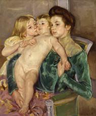 The Caress 1902 by Mary Cassatt Framed Print on Canvas