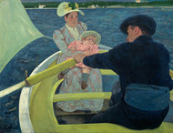 The Boating Party by Mary Cassatt Framed Print on Canvas
