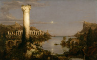 The Course of Empire Desolation 1836 by Thomas Cole Framed Print on Canvas