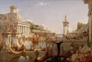The Consummation of Empire 1836 by Thomas Cole Framed Print on Canvas