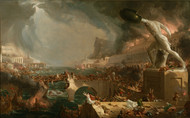 The Course of Empire - Destruction 1836 by Thomas Cole Framed Print on Canvas