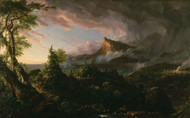 The Course of Empire The Savage State 1836 by Thomas Cole Framed Print on Canvas