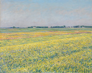 The plain of Gennevilliers, yellow fields 1884 by Gustave Caillebotte Framed Print on Canvas