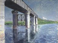 The Seine and the Railroad Bridge at Argenteuil (La Seine et le pont du chemin de fer dArgenteuil) by Gustave Caillebotte Framed Print on Canvas