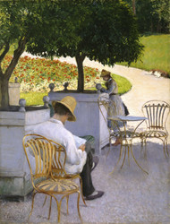 The Orange Trees 1878 by Gustave Caillebotte Framed Print on Canvas