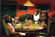 A Bold Bluff (also known as Judge St. Bernard Stands Pat on Nothing) by Cassius Marcellus Coolidge Framed Print on Canvas