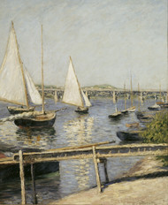 Sailing Boats at Argenteuil 1888 by Gustave Caillebotte Framed Print on Canvas