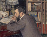 Henri Cordier 1883 by Gustave Caillebotte Framed Print on Canvas