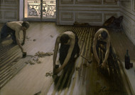 The Floor Scrapers 1875 by Gustave Caillebotte Framed Print on Canvas