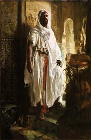 The Moorish Chief 1878 by Eduard Charlemont Framed Print on Canvas