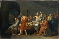 The Death of Socrates 1787 by Jacques-Louis David Framed Print on Canvas