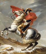 Napoleon Bonaparte Crossing the Grand Saint-Bernard Pass, 20 May 1800 by Jacques-Louis David Framed Print on Canvas