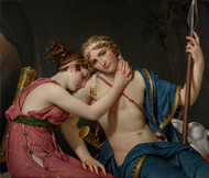 The Farewell of Telemachus and Eucharis 1818 by Jacques-Louis David Framed Print on Canvas